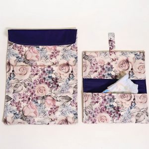Nappy clutch wallet with change mat