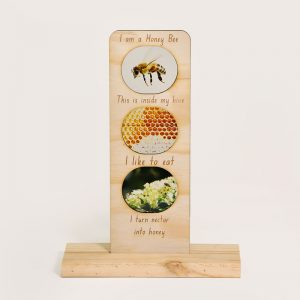 In the Garden Ecosystem - honeybee timber card
