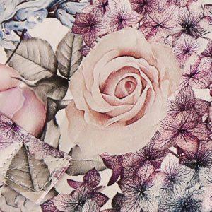 Pastel roses swatch