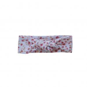 Topknot for baby in posy print
