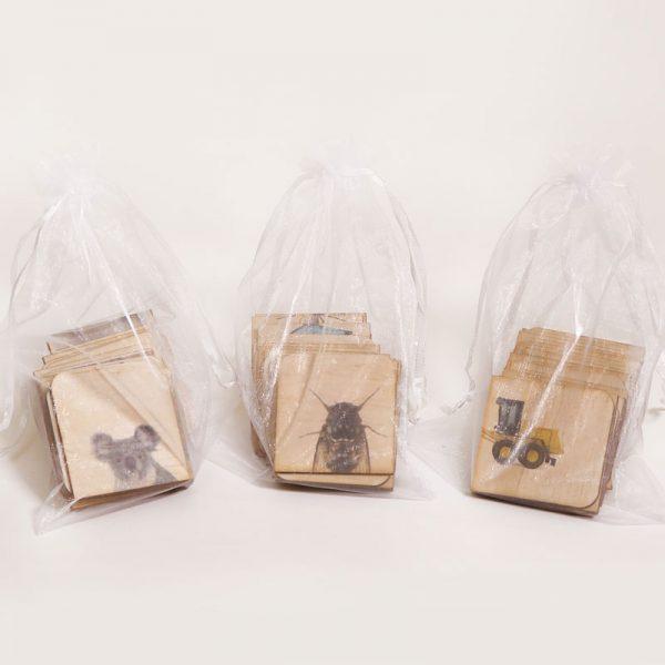 3 Puzzles in organza bags