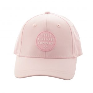 Front view light pink renegade baseball cap on white
