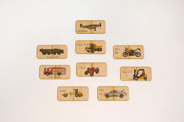 Transport themed matching puzzle