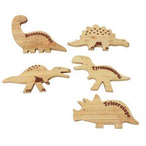 Dino Play Set of timber dinosaur shapes