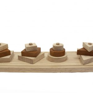 shape sorter front view made from natural timber