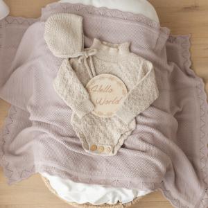 Heirloom blanket knit in dusty rose