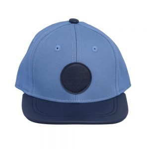 Mid blue Atlantis cap with navy peak